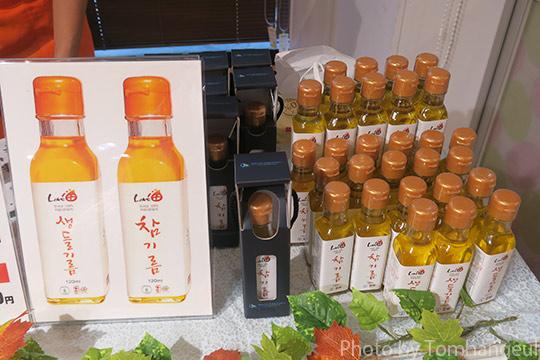 江原道物産展で見かけた特産食品あれこれ~えごま油・フリーズドライ・甘露茶